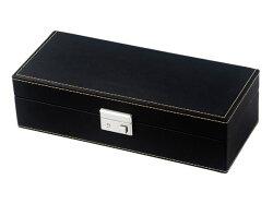 【コレクターの強い味方!】腕時計収納ケース合成皮革5本用収納ブラックSP80048LBK