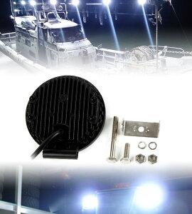 LED作業灯LEDワークライトワークライト18W12V/24V対応6連6000K白丸型汎用防水仕様アウトドア/船舶/現場/各種車両/防災用送料無料LED作業灯農業機械建設機械取付人気