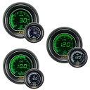 オートゲージ 水温計 油温計 油圧計 3点セット 3連メーター A...