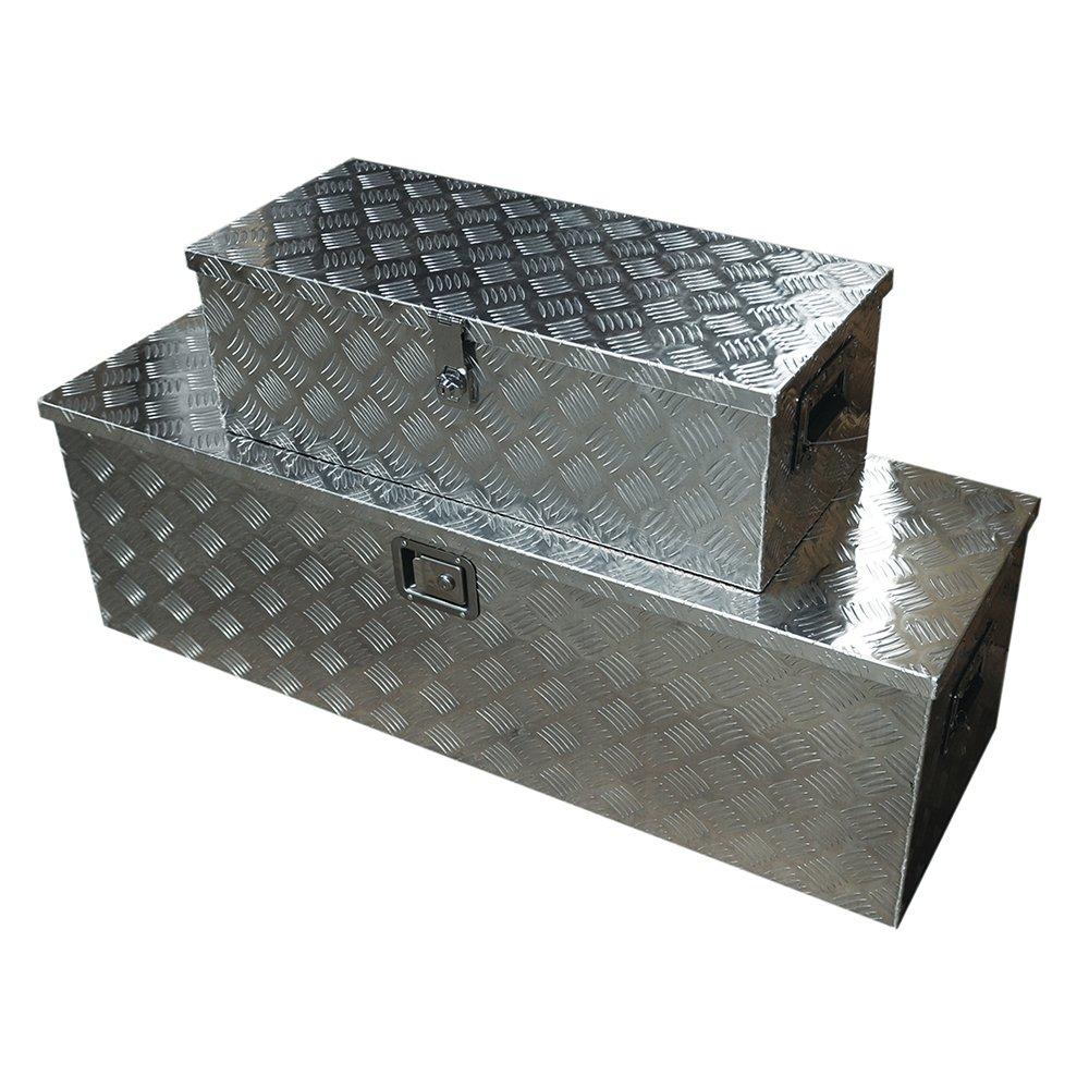 軽トラ荷台ボックス 軽トラック用 アルミボックス 工具箱 ツールボックス 1230×385×385mm 鍵付き 大型 アルミ工具箱 BOX 送料無料 A35AA35B