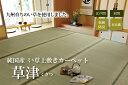 【送料無料】い草 6畳 上敷き カーペット国産「 草津 」サイズ:本間...