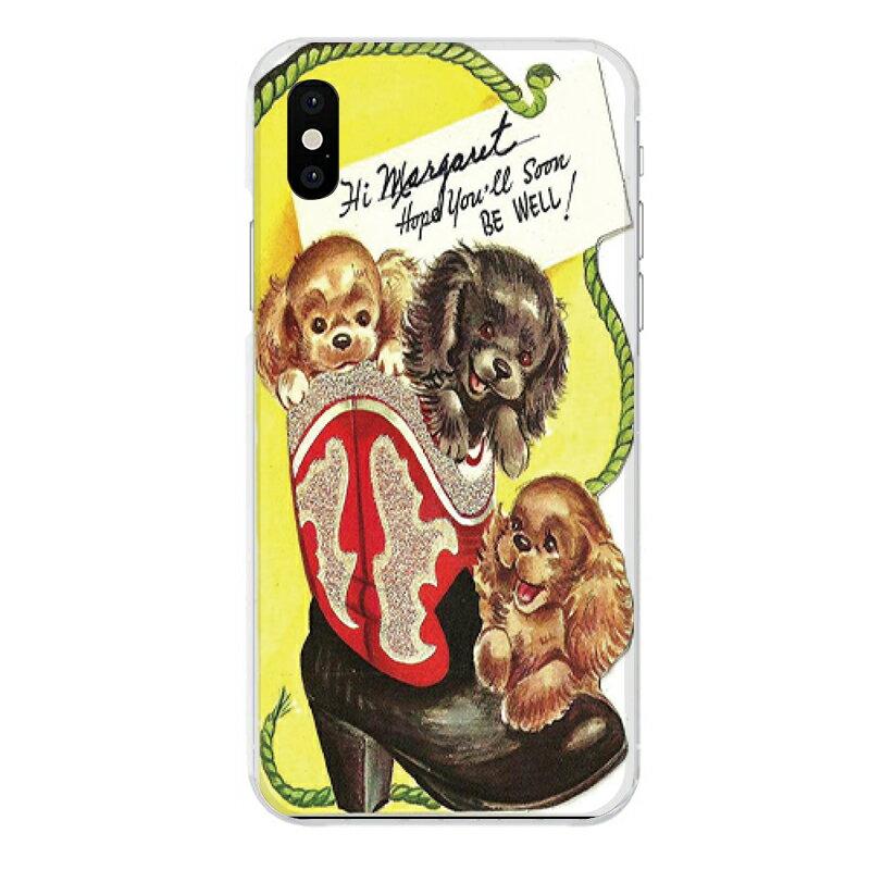iPhone XS専用 犬 イヌ 靴 ブーツ かわいい アンティーク調 キャラクター