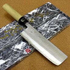 関の刃物菜切り薄刃包丁160mm梨地白紙2号本水牛角口金付き