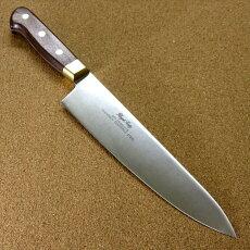 関の刃物牛刀200mm真鍮口金付き肉切り万能料理包丁在庫処分品訳あり