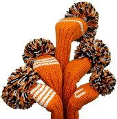 【ジャンクレイグヘッドカバーJANCRAIG】オレンジ/ホワイト/ブラック(3W、5W、FW、UT)
