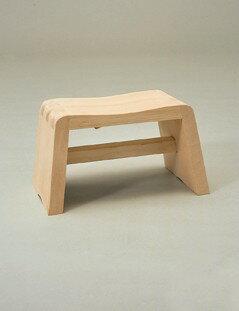 アール曲線の座りやすい風呂椅子木製【ひのき】ニューふろいす