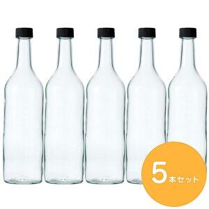 ガラス瓶 酒瓶 ワイン瓶 ワイン720 PPL 透明 720ml -5本セット- wine bottle