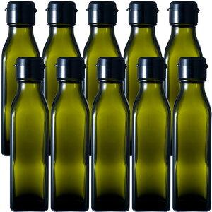 ガラス瓶 ドレッシング・タレ瓶 調味120角-HC-DS 120ml -10本セット- sauce bottle