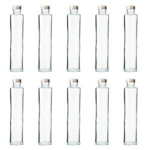 ハーバリウム、ドレッシング、タレなどで使える ガラス瓶・透明瓶・円柱瓶 SSS-200A 10本セット