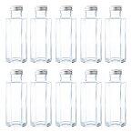 ハーバリウム 瓶 ガラス瓶 透明瓶 六角形 SSF-100A-10本セット- 114ml glass bottle ドレッシング タレ オイルなどで使える