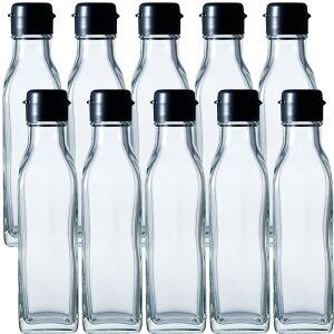 ガラス瓶 ドレッシング・タレ瓶 角150B 150ml -10本セット- sauce bottle