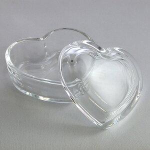 ミニハート -フタ付ガラス小物入れ ハート型- ガラス保存容器 DT100 glass container