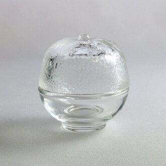 附帶AMUSE箱-蓋子的玻璃器皿柚子型-玻璃器皿TS44017 glass container