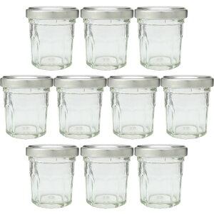 ガラス瓶 ジャム瓶 ガラス保存容器 A30 十角 32ml -10本セット- jam jar