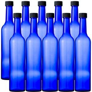 ブルーボトル 500ml(スリムワイン500 CBT)-10本セット-ガラス瓶 酒瓶 ワイン瓶 wine bottle