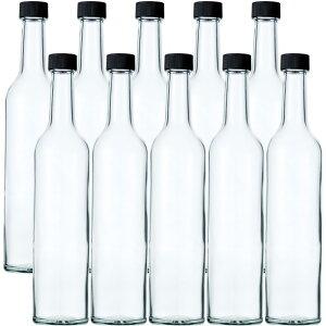 スリムワイン500 透明 500ml -10本セット- ガラス瓶 酒瓶 ワイン瓶wine bottle