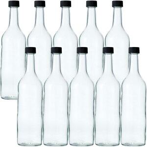 ワイン720 PPL 透明 720ml -10本セット-ガラス瓶 酒瓶 ワイン瓶 wine bottle