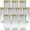 ガラス瓶 スイーツ瓶 ガラス保存容器 HANA140ST 158ml -10本セット-jar