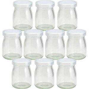 【あす楽対応】ガラス瓶 プリン・ヨーグルト瓶 ヨーグルト100 PE CAP 100ml -10本セット- jar