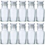 ガラス瓶スパイスボトルワグナー瓶樹脂キャップ中栓付66.7ml-10本セット-