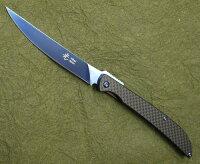 光ヒカリフォールディングステーキナイフD2チタンコーティングカーボンファイバーフォールディングナイフ