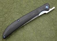光ヒカリフォールディングステーキナイフD2ミラー仕上G10ハンドルフォールディングナイフ