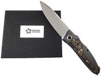 根本朋之デザインSKR03204タクティカルフォルダーサクラフォルダーフォールディングナイフS35Vストーンウォッシュ仕上セラミックカーボン&ジルコニア合金【10016808】