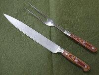 カービングナイフ&カービングフォークセットステーキナイフ&ステーキフォークバーベキュー用ナイフ&フォーク