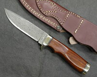 HATTORIハットリKD30-104カウリXニッケルダマスカス鋼シースナイフ