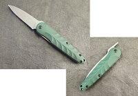 光ヒカリフォールディング肥後風ナイフD2濃緑G10フォールディングナイフ【HIKARI-HK104SB2G10】【10015010】
