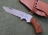 MOKIモキMK-502JガンブレードフォールディングナイフカリンAUS-8