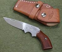MOKIモキMK-500Bガンブレードフォールディングナイフ紫檀AUS-8
