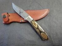 日本製リジッドR-G100グレー合板シースナイフ鹿模様入りMADEINSEKIJAPAN