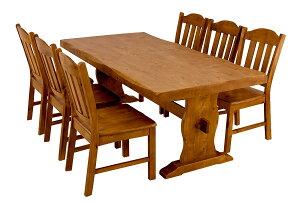【今すぐ使える割引クーポン発行中】西濃運輸ダイニングテーブルセット ダイニングテーブル7点セット 木製ダイニングテーブルセット ダイニングテーブル ワイドダイニングテーブル 天然