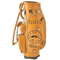 レトロな個性派【先行予約受付】シェリフ【SHERIFF】クラシック数量限定レアレトロ被りにくいゴルフバッグキャディバッグメンズレディース合皮帽子自転車キャラメル茶色ブラウンSFC-012CB-CARAMEL