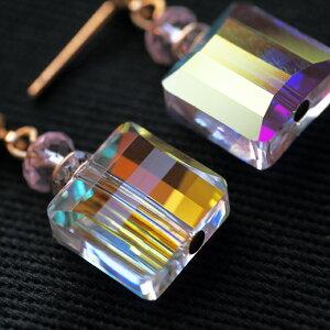 ftLoveYourselfスワロフスキー社純正香水ボトルピアス(イヤリング)−2種類