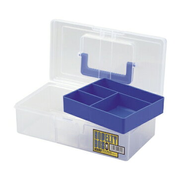 メイホウ ノベルティボックス M ブルー [ 工具箱 ツールボックス ケース プラスチック 大型 椅子 屋外 クラフト 座れる 激安 ベランダ 工具バック 工具入れ ] 車用品・バイク用品 カー用品 工具 工具箱