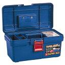 リングスター PC工具箱 SR-400 青 D400×W225×H203mm [ 工具箱 ツールボックス ケース プラスチック 大型 椅子 屋外 クラフト 座れる 激安 ベランダ 工具バック 工具入れ ] 車用品・バイク用品 カー用品 工具 工具箱
