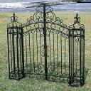 送料無料 素敵な門扉を門柱と合わせてセットでお買得価格!イングランド門扉と門柱2本のセット ...