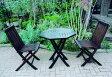 チーク ポピュラー折り畳みテーブルとチェアの3点セット【smtb-kd】 [ ガーデンファニチャー ガーデンチェア ガーデンテーブル 木製 折りたたみ 折り畳み 家具 椅子 イス テラス 庭 バルコニー diy 通販 ]