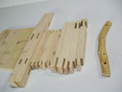 【再入荷】手作りキット!手作りの為、一個一個の背もたれの丸太が違います。集成材の子供いす...