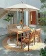 チーク サザンブリーズ ダイニングテーブルとアームチェア2脚とベンチの4点セット [ ガーデンファニチャー 木製 ダイニングテーブルセット ]
