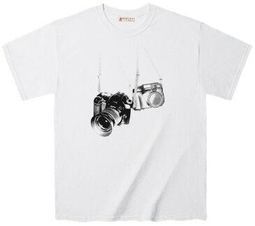 Tシャツ 実写版のカメラ フェイクフォトTee