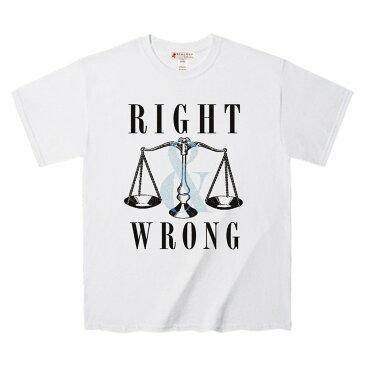 Tシャツ 裁きを表す天秤フィーチャー デザインTee