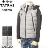 タトラスTATRASダウンジャケット袖切り替えメンズブラック/ライトグレー1/2/3/4/5SPIAZZO4134