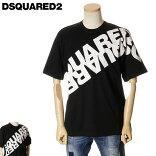 写真ディースクエアードDSQUARED2TシャツオーバーサイズメンズブラックS/M/L/XL/2XL/3XLS74GD0664S22427