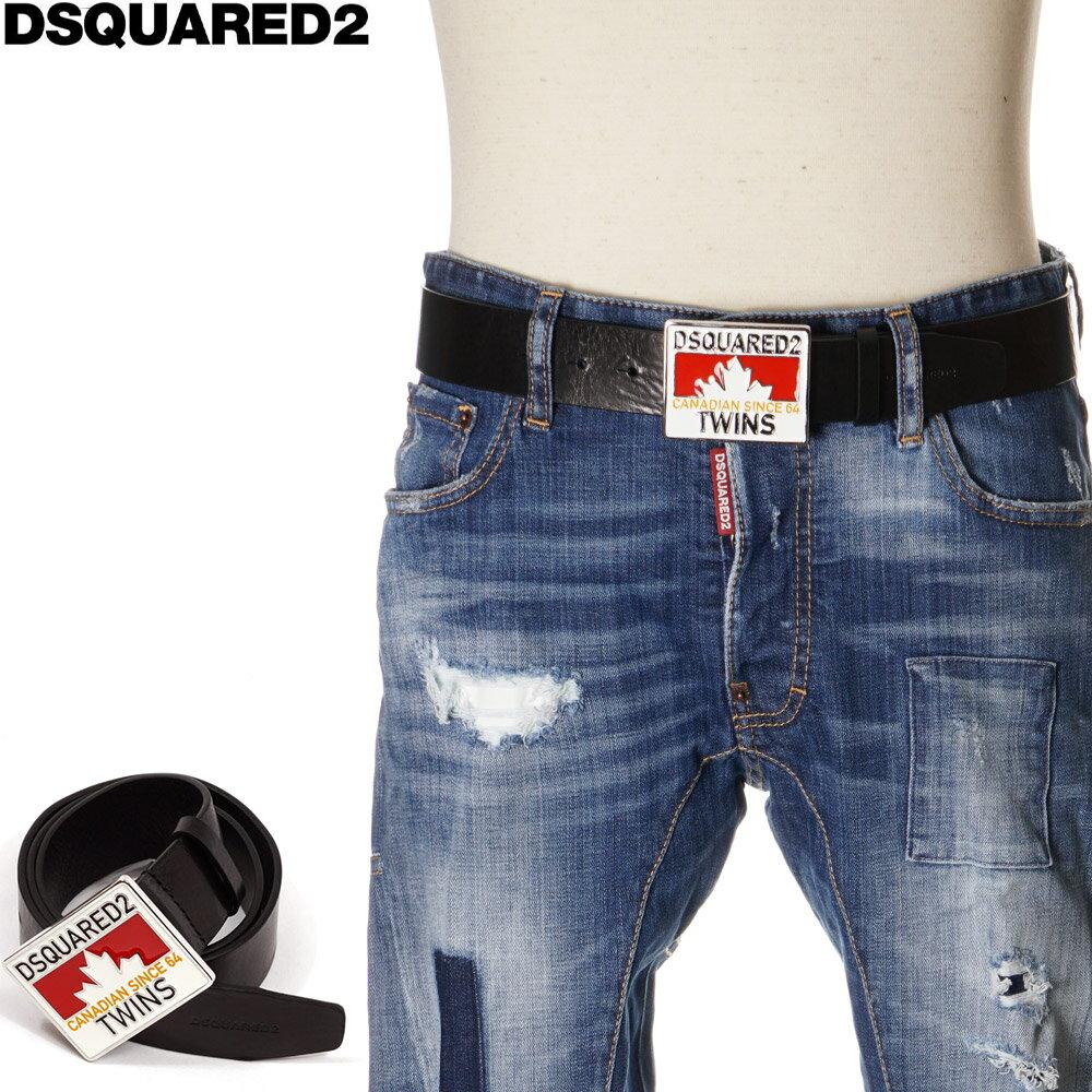 ディースクエアード DSQUARED2 ベルト レザー メンズ ブラック 85/90/95 BEM0151 01500001画像
