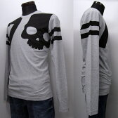 HYDROGEN メンズ ロングTシャツ[38003] グレー系 200611 015 GREY MELANGE