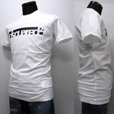 DSQUARED2 Tシャツ メンズ ブランドロゴ入り ホワイト系 S-XXXL S71GD0648 S22427 100 [50044]