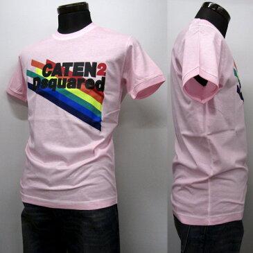 DSQUARED2 Tシャツ メンズ ブランドロゴ入り ピンク系 S-XXXL S71GD0630 S22427 242[50050]